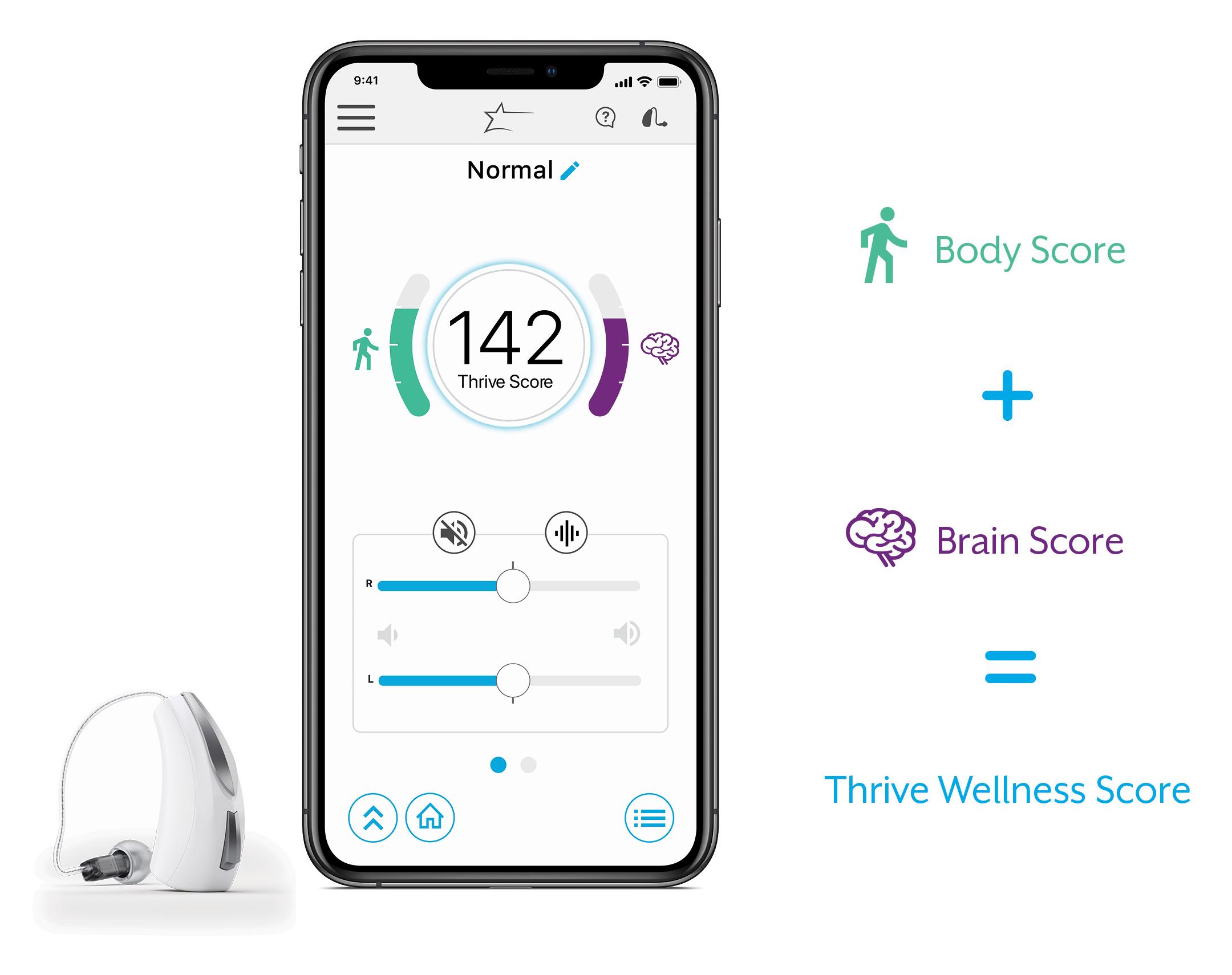 audibel thrive app geistige fitness demenz smartphone bluetooth handy