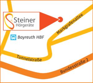 Steiner Hoergeraete Bayreuth Karte Ansicht Markgrafenallee
